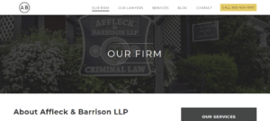 Best Law Firm Website: Criminallawoshawa
